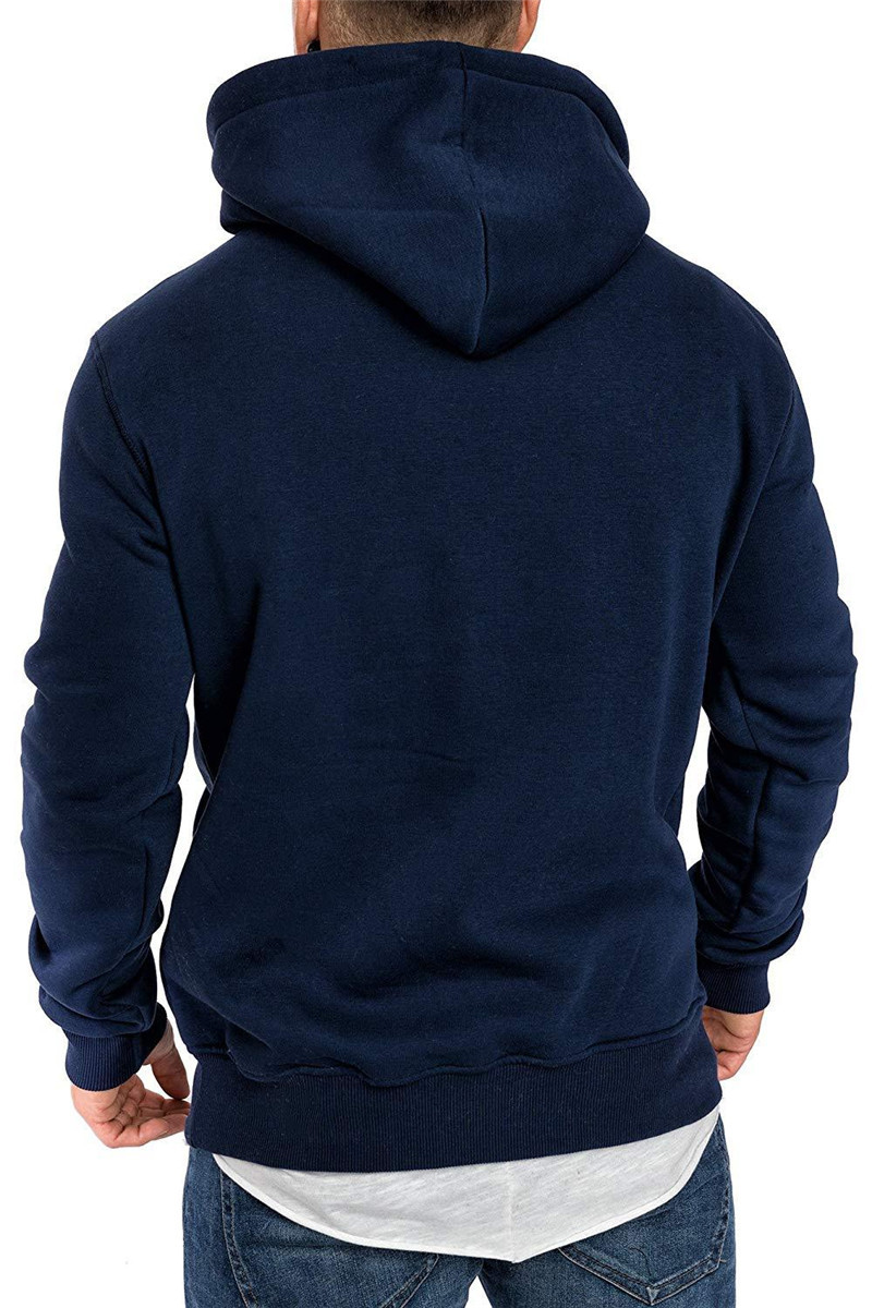 Leisure Hooded Long-sleeved Pullover Sweater Autumn Hoodie Jacket Male Fashion - Burgundy XL