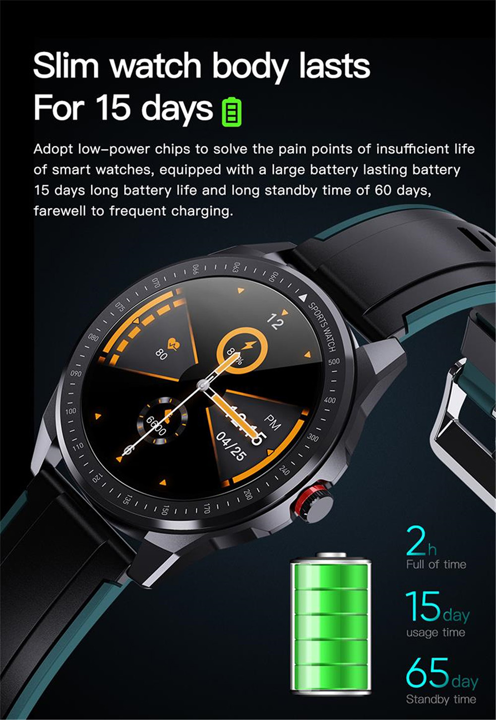 SN88 Smart Watch - Orange