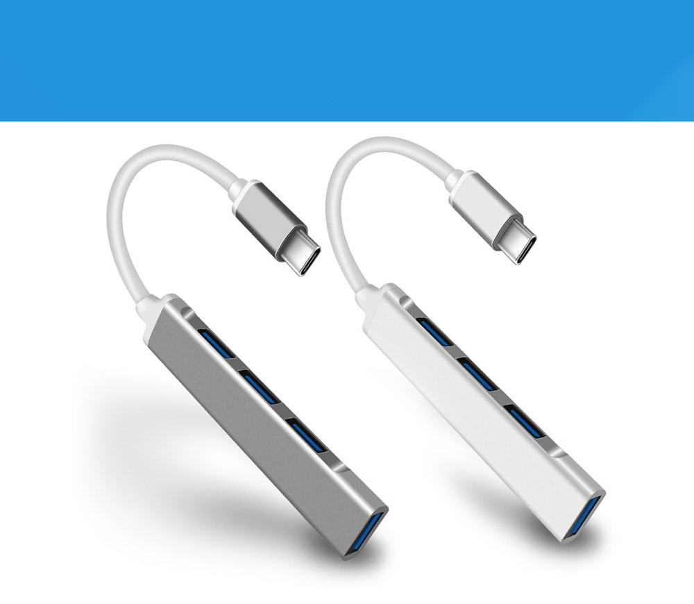 USB-C Hub Converter - Gray Cloud Type-C 3.1