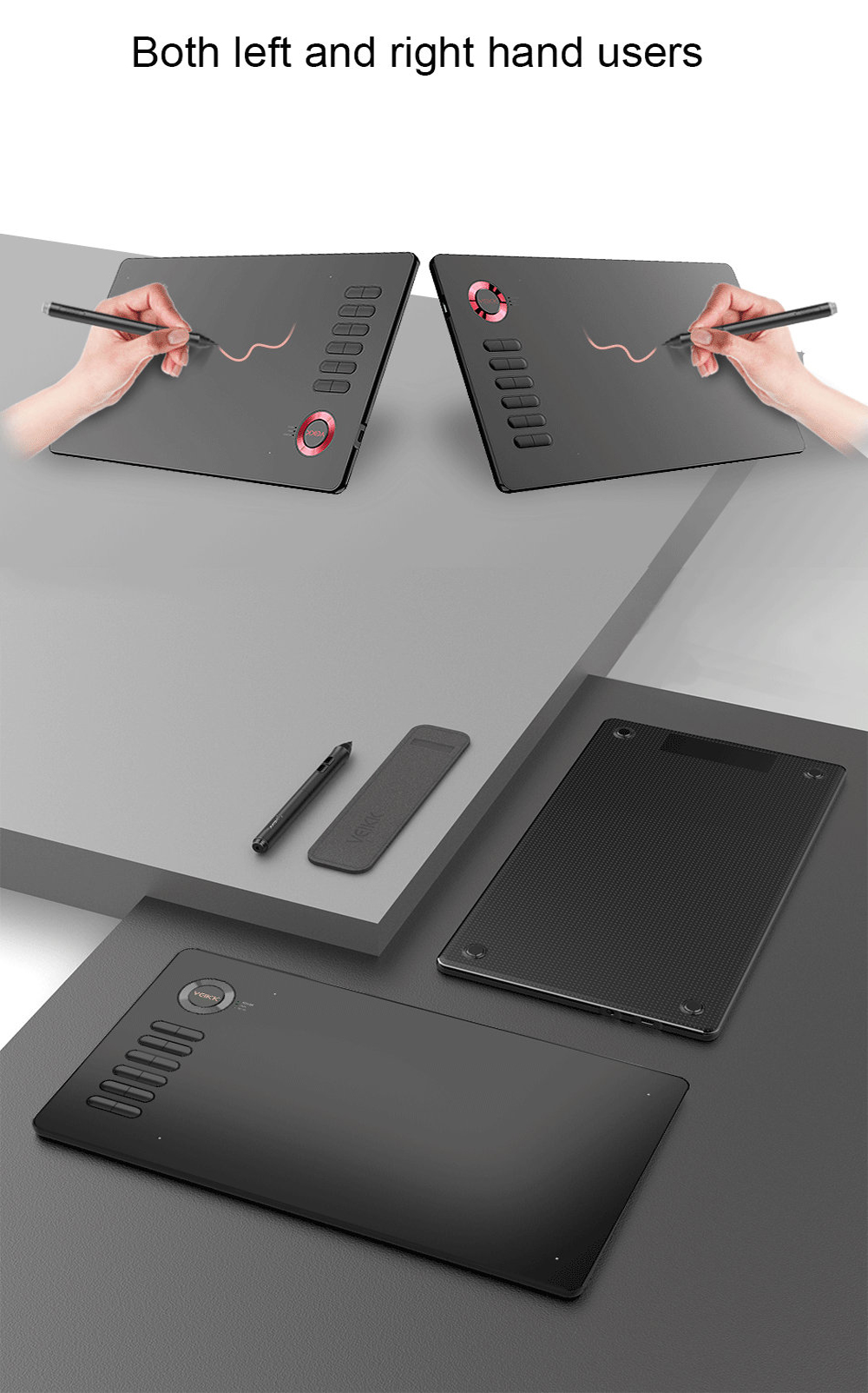 Veikk A15 Drawing Graphic Tablet - Valentine Red
