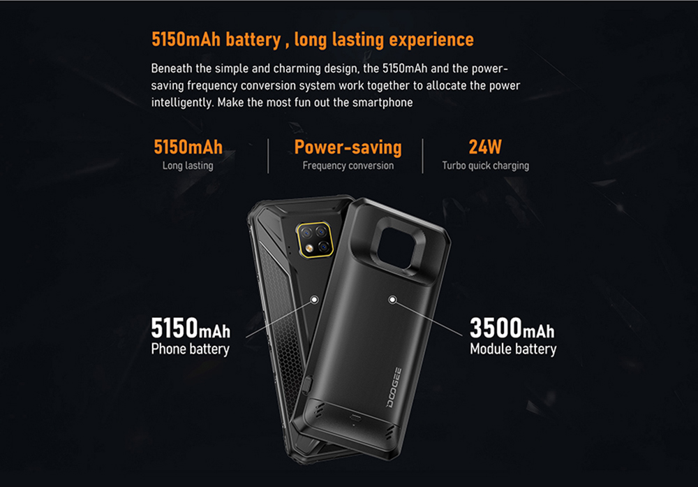 Doogee S95 Pro Global Bands 4G Smartphone Global Version - Black Other Area