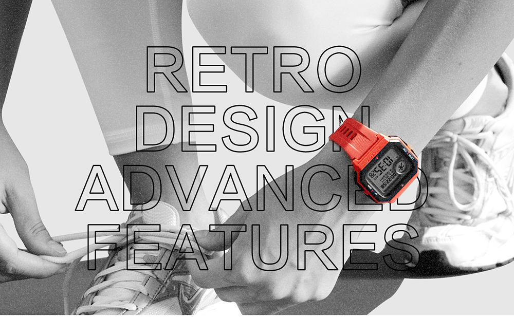Original Amazfit Neo Smart Watch 28 Days Long Standby Wristband 24 Hours Heart Rate Monitor 5ATM Waterproof Smart Watch - Red