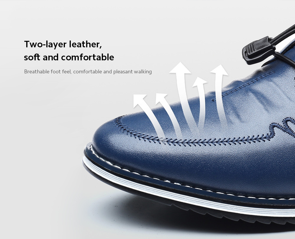 Men's Shoes Casual Leather Shoes upper