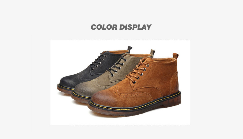 Large Size Men's Boots color display