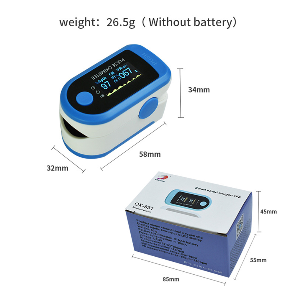 Fingertips Oximeter - Black
