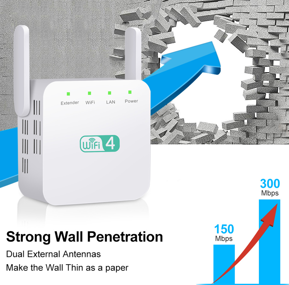 WD-611U WiFi Repeater - White UK Plug