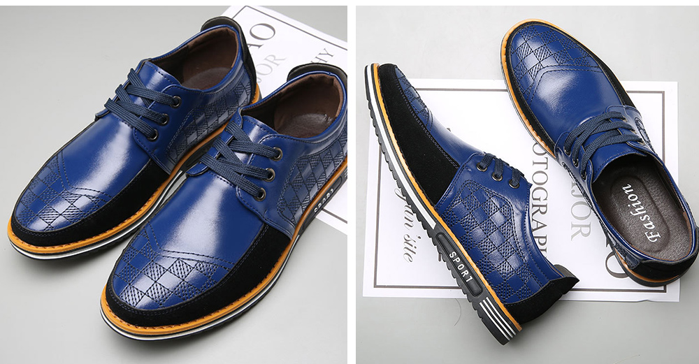 Men's Casual Shoes Fashion Trendy Business Leather Shoes