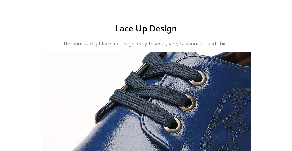 Men's Casual Shoes Fashion Trendy Business Leather Shoes Lace Up