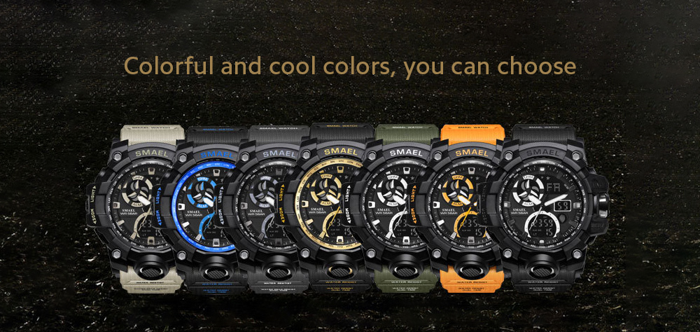 SMAEL 1545C Fashion Sports Multi-function Electronic Watch color display