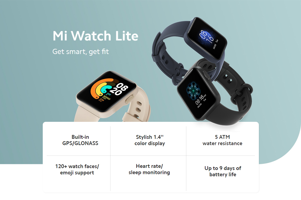 Xiaomi Mi Lite Smart Watch Global Version - Blue