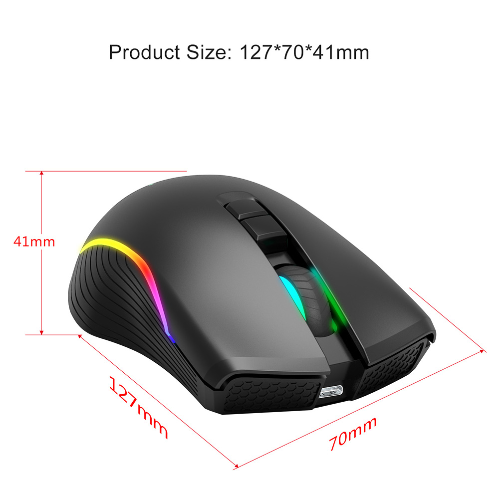 HXSJ T26 Wireless Mouse - Black