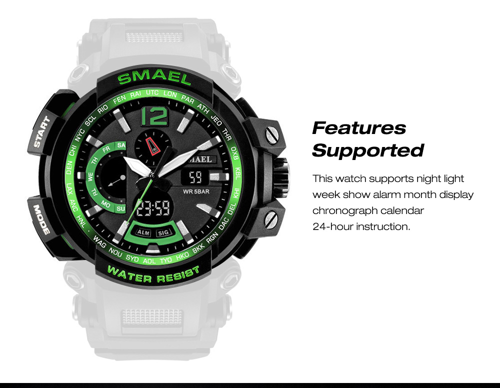 Men's Electronic Watch Features