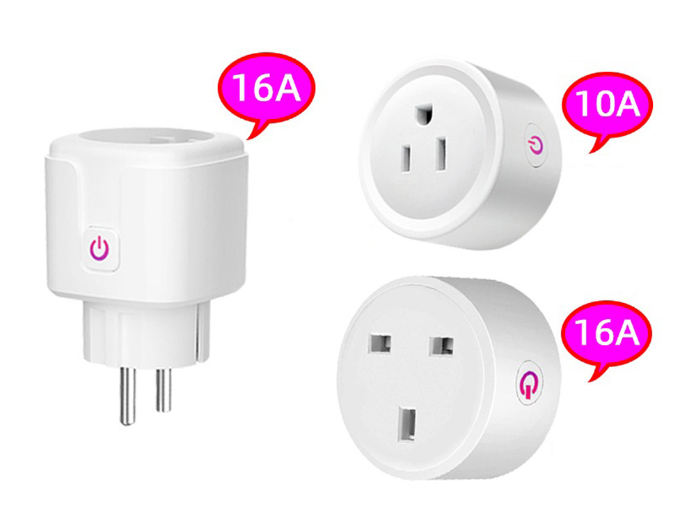 Graffiti WiFi Socket Mobile Phone App Remote Control Power Adapter Home Smart Plug Switch - White US Plug (3-pin)