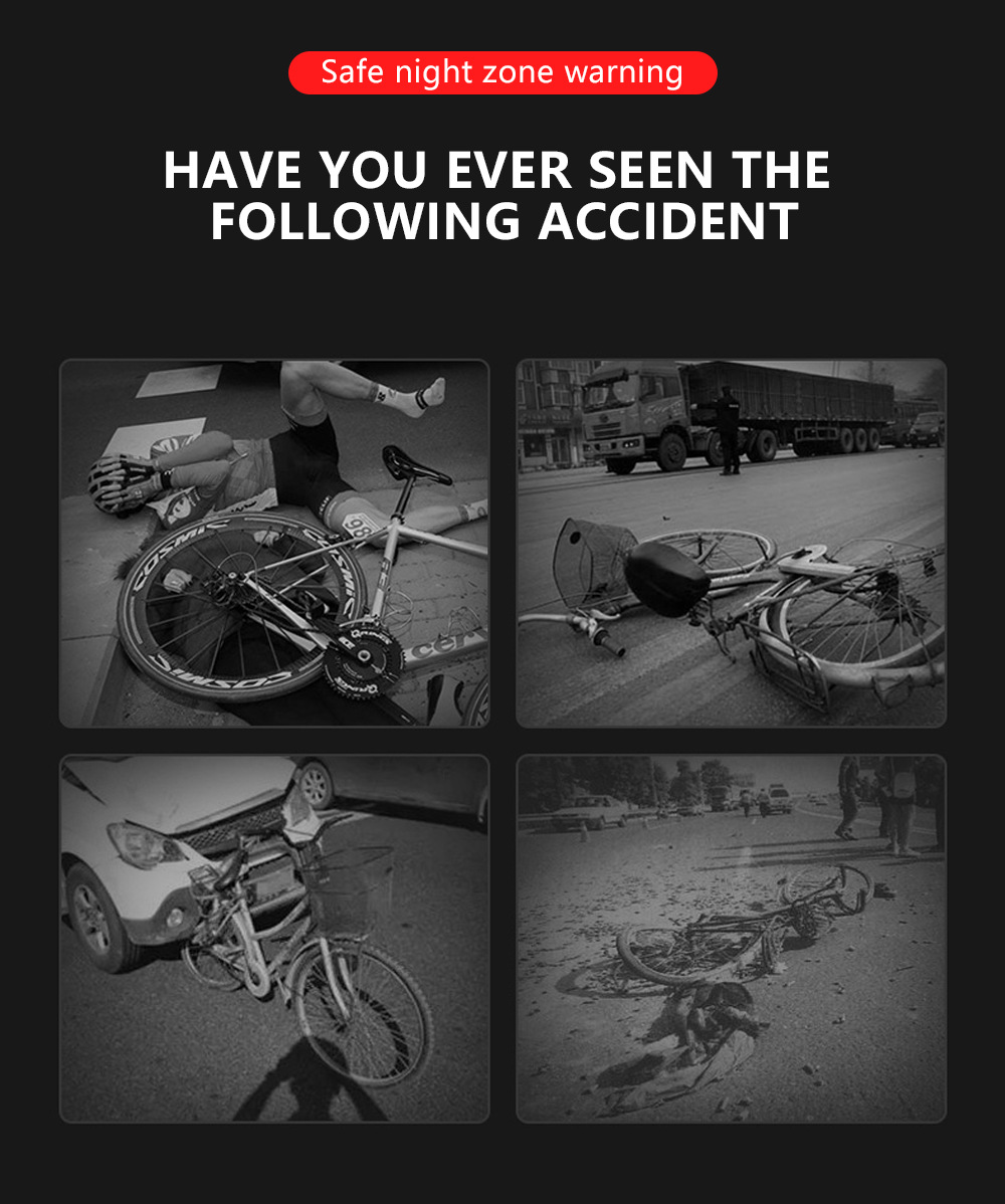 Bike Light LED Bicycle Taillight HAVE YOU EVER SEEN THE FOLLOWING ACCIDENT