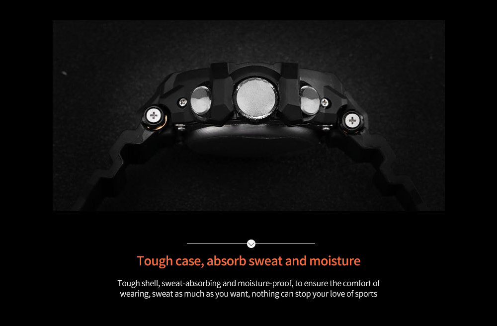 SMAEL Fashion Sports Outdoor Waterproof Multi-function Watch Tough case, absorb sweat and moisture