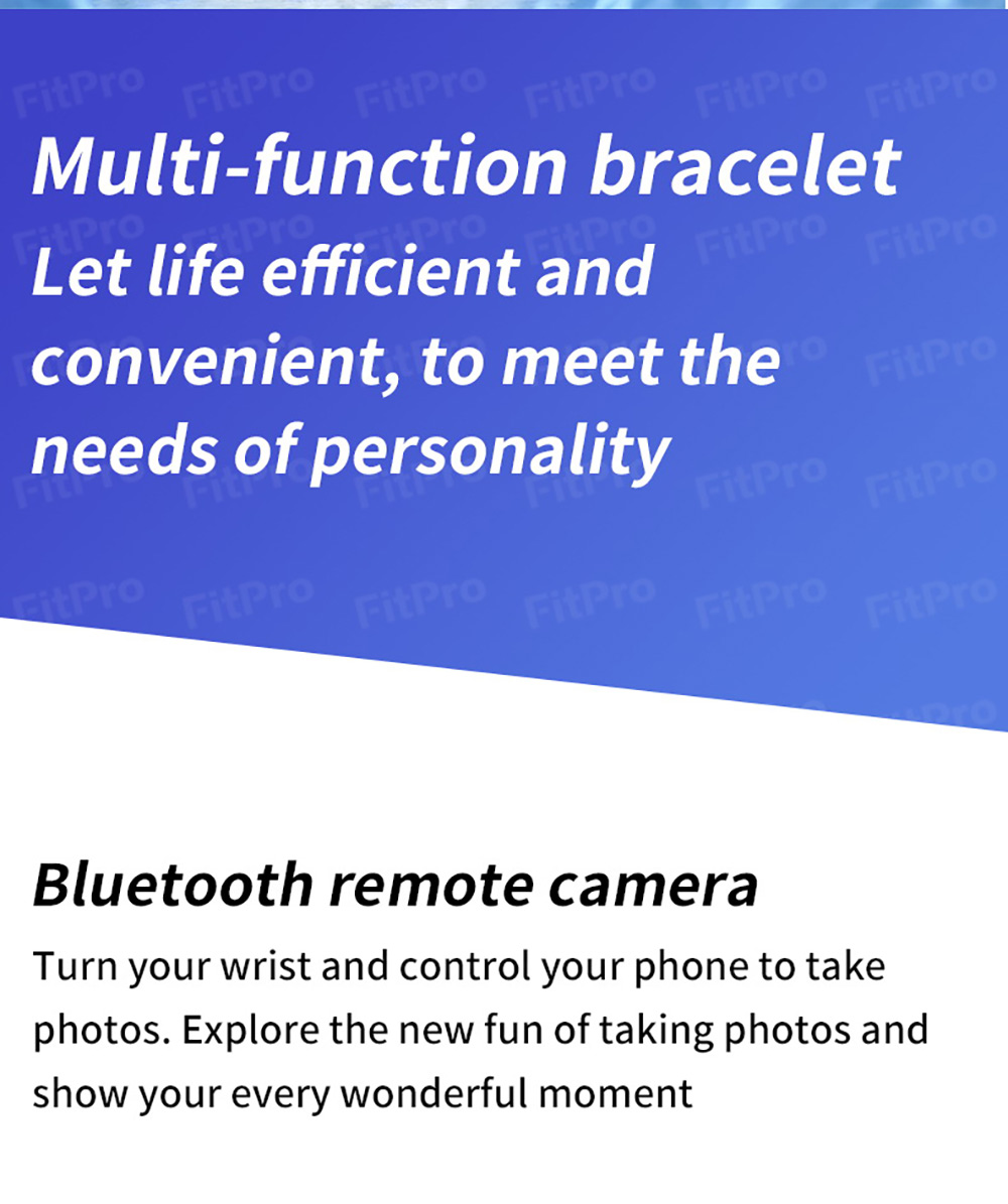 Gocomma M5 Smart Wristband Continuous Blood Pressure Oxygen Monitor Wristband Message App Push Fitness Tracker Color Screen - Rose Red