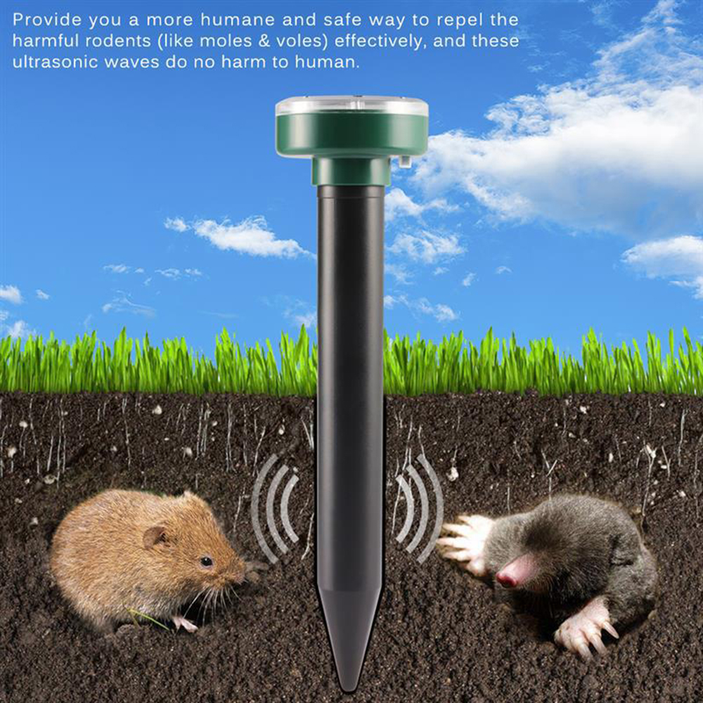 Solar Mouse Repeller - Black Round 2PCS