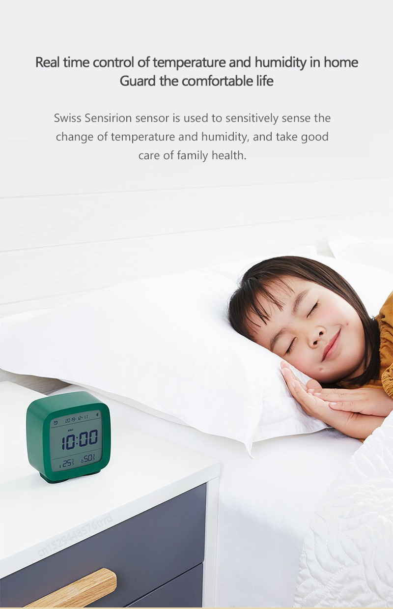 CGD1 Bluetooth Alarm Clock Real time control of temperature and humidity in home