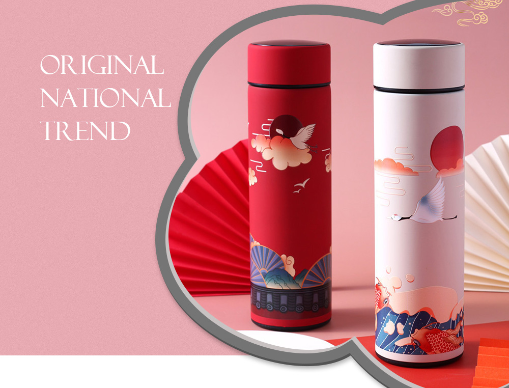 Creative Chinese Style Illustration Tide Roman Cup Original national trend