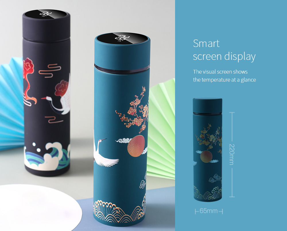 Creative Chinese Style Illustration Tide Roman Cup Smart screen display