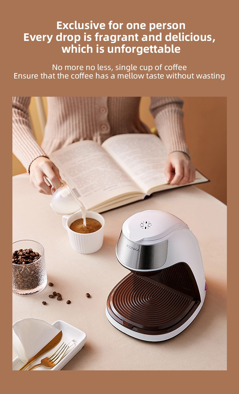 KONKA KCF-CS2 Coffee Maker Exclusive for one person, every drop is fragrant and delicious, which is unforgettable