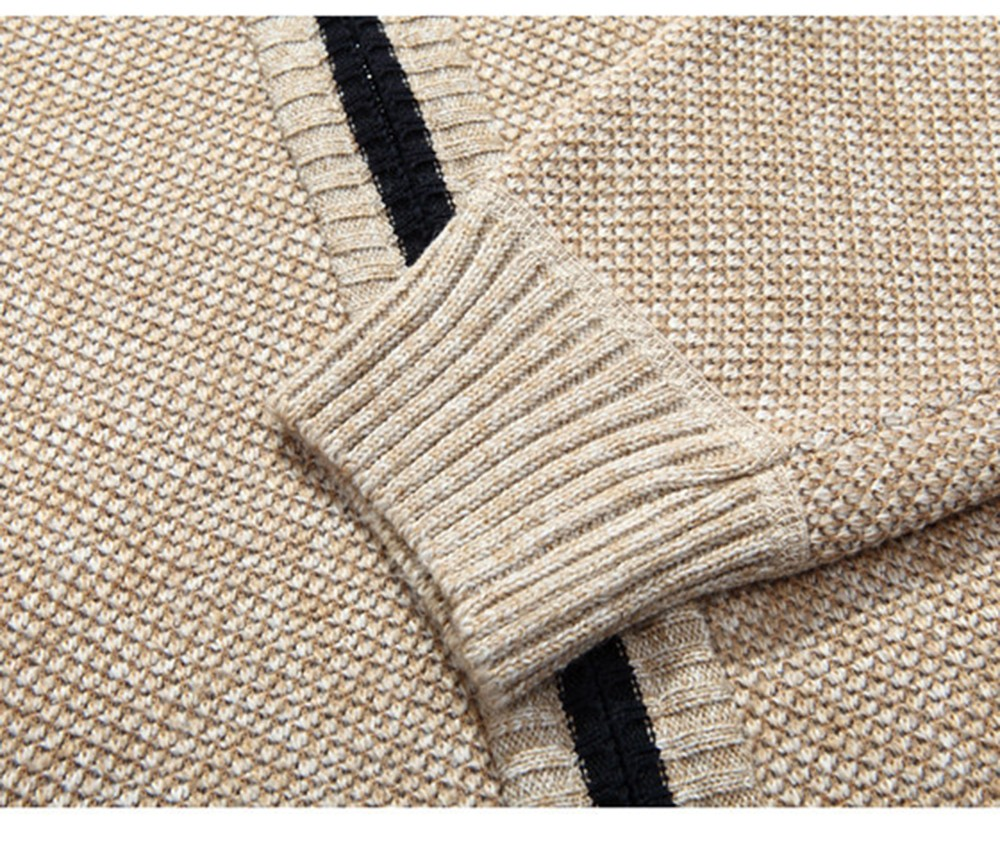 Unisex Knitted Sweater Knitwear with Zipper Warm Thick Sweater Jacket Coats - Warm White 3XL