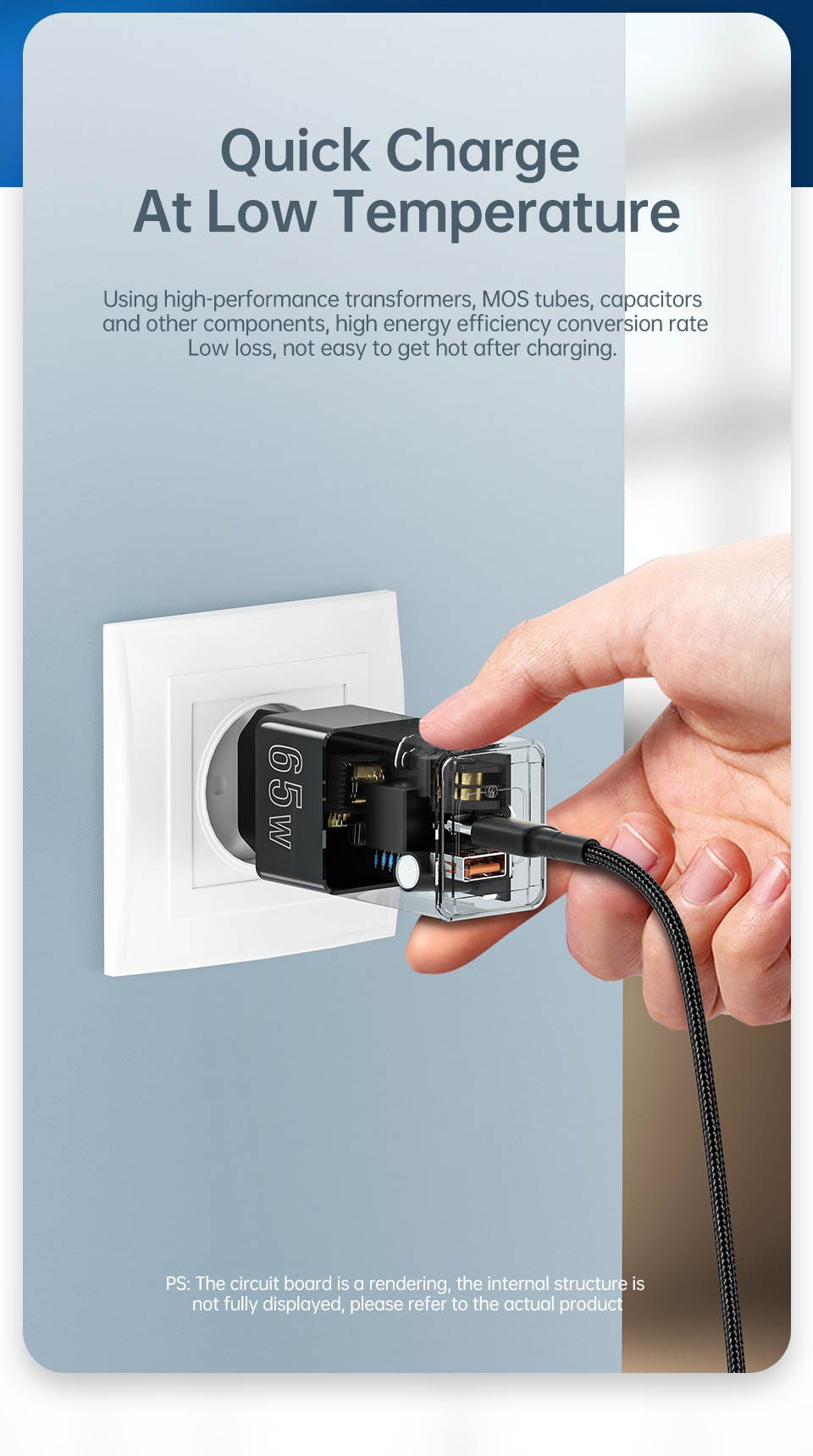 Kuulaa KL-CD14 65W Charger Quick Charge At Low Temperature