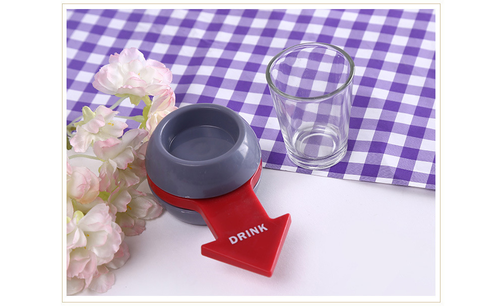Spin Shot Glass Drinking Entertainment Game - Gray