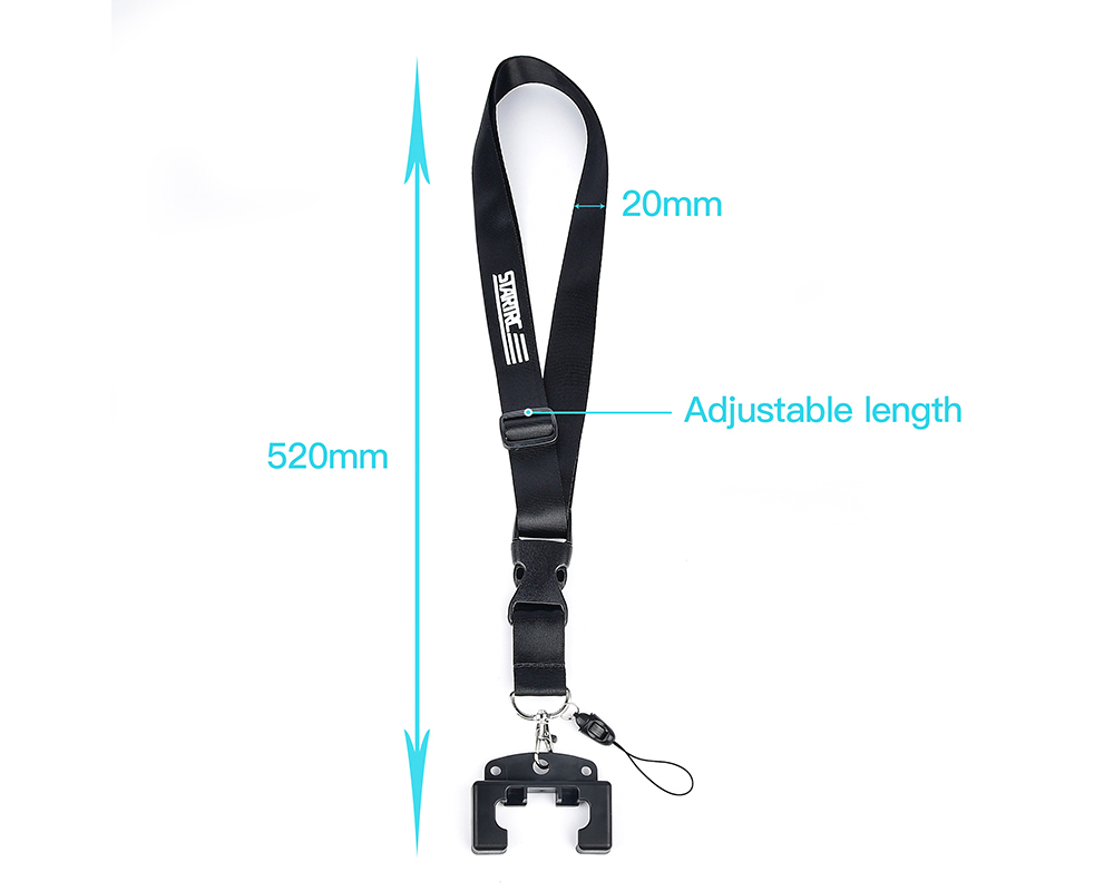 STARTRC Remote Control Anti-lost Rope Hanging Belt Buckle Set For DJI Mavic Air2 / Mini 2 - Black
