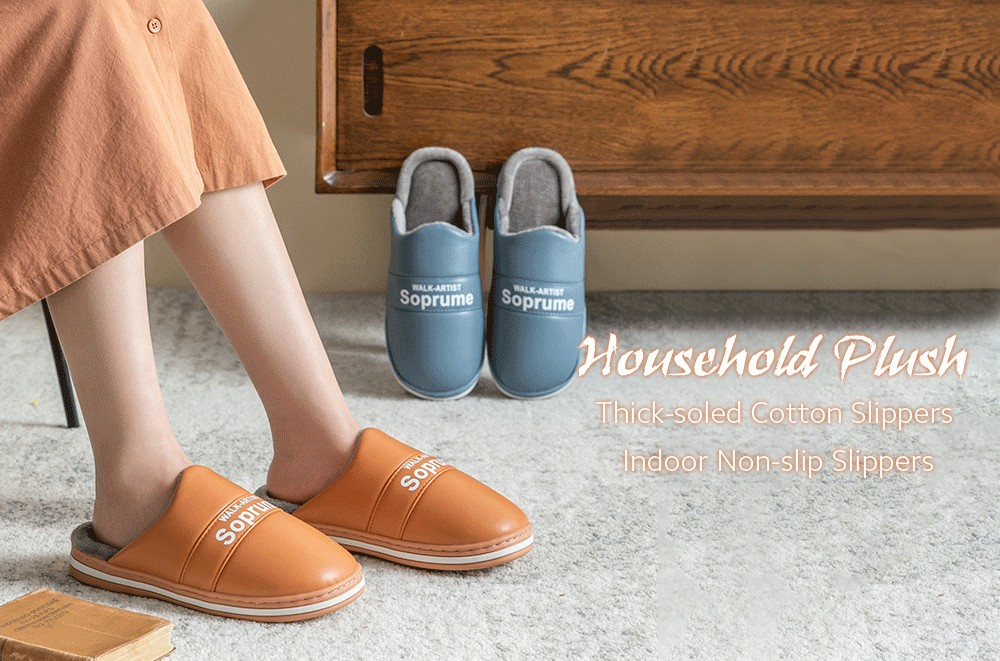Heavy-bottomed Cotton Slippers
