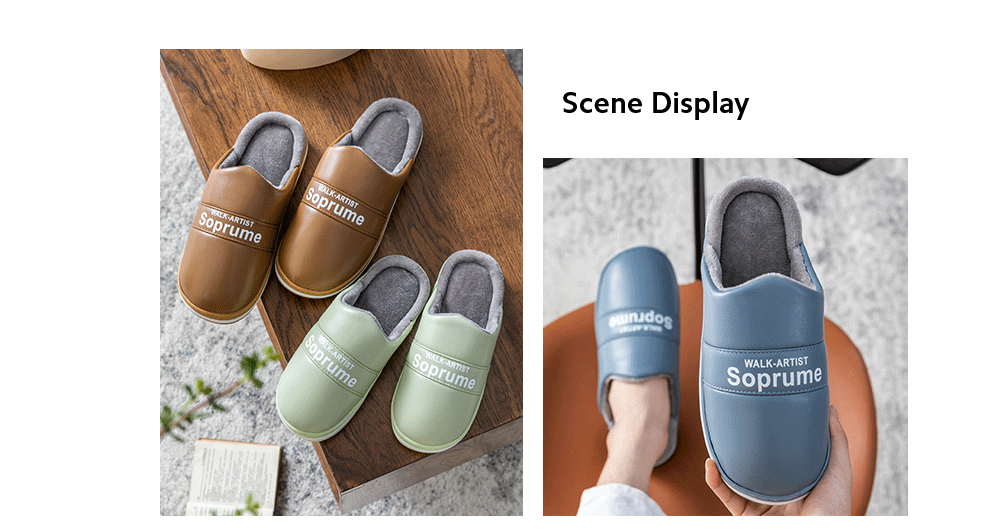 Heavy-bottomed Cotton Slippers scene display