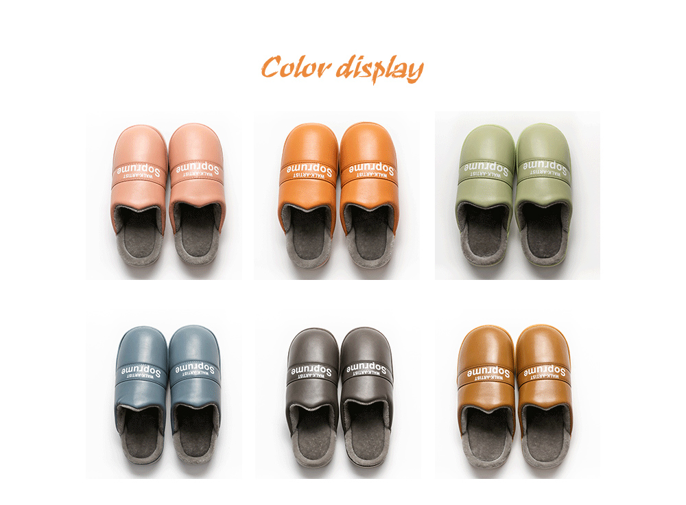 Heavy-bottomed Cotton Slippers color