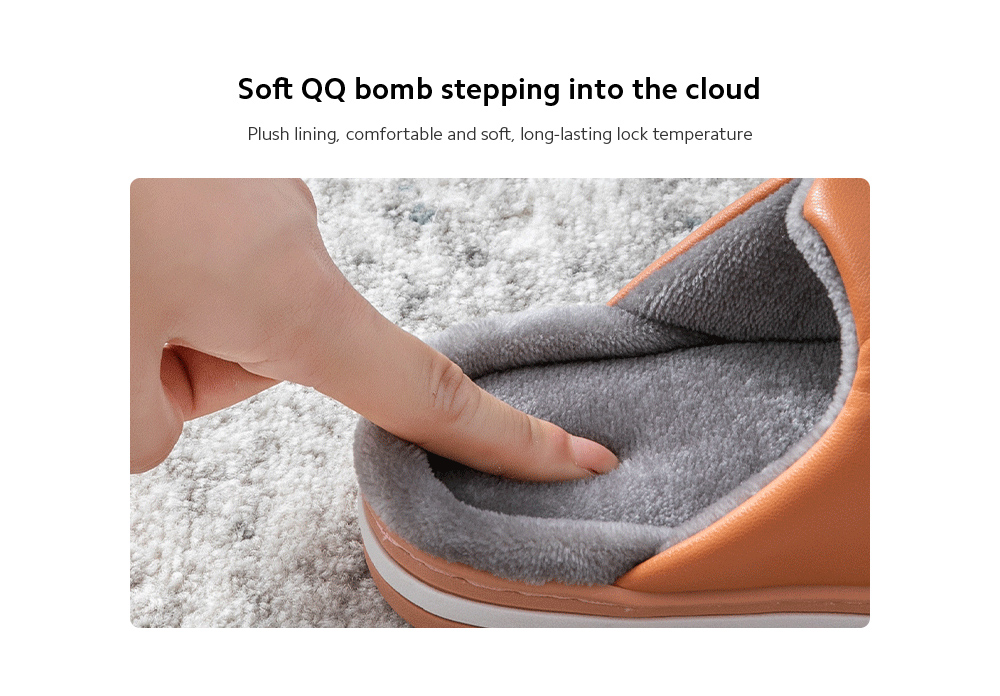 Heavy-bottomed Cotton Slippers Soft QQ bomb stepping into the cloud