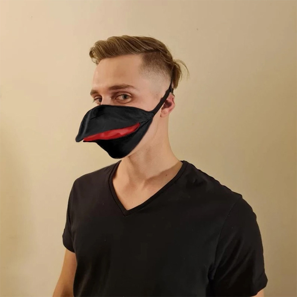 Mask Beak Shape Cotton Mask DustProof WINDPROOF BREATHABLE - Black L