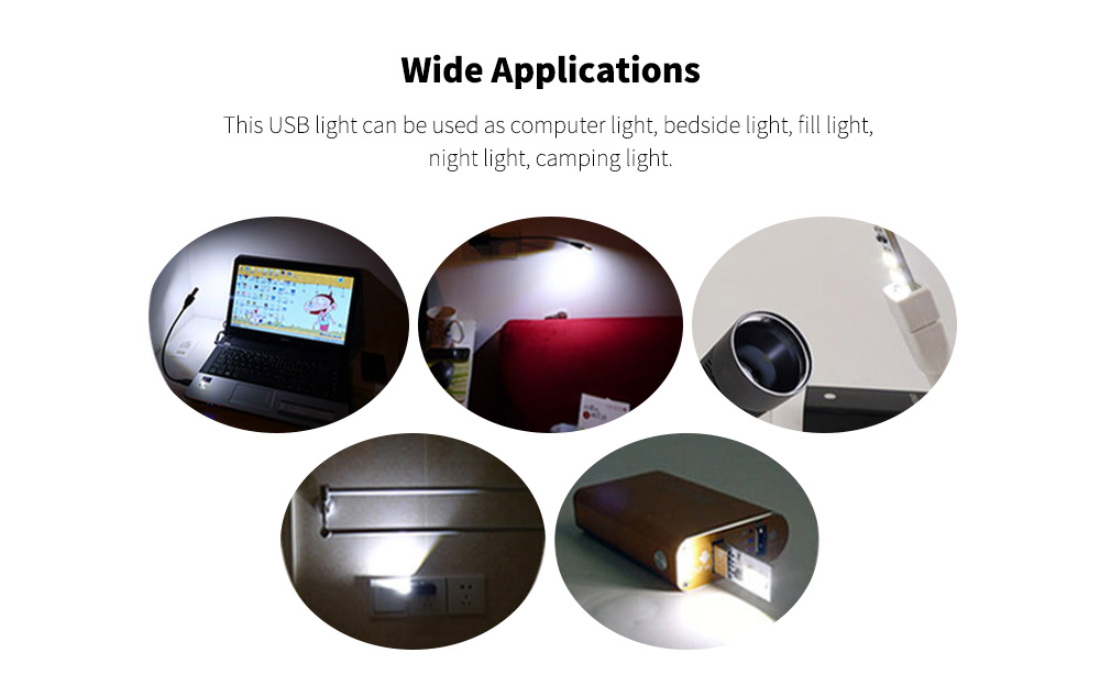 B41 3LEDs Tablet Mini USB Lamp Applications