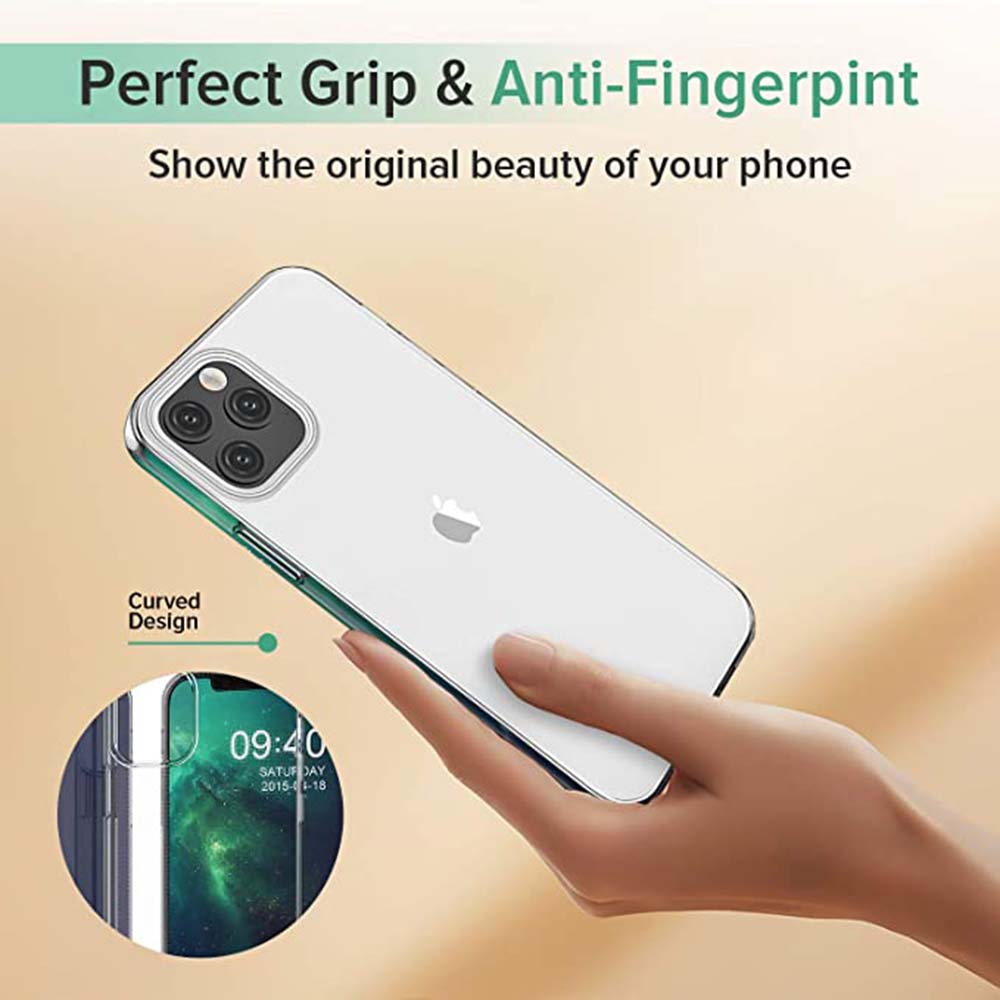 ASLING 3-in-1 Screen Protector + Camera Protection Film + Phone Cover Perfect Grip & Anti-Fingerpint