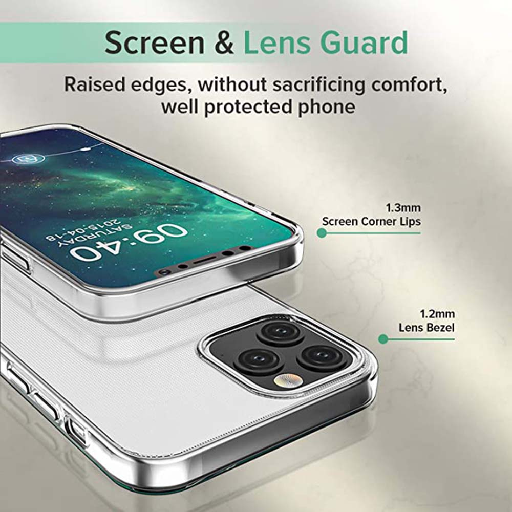 ASLING 3-in-1 Screen Protector + Camera Protection Film + Phone Cover Screen & Lens Guard