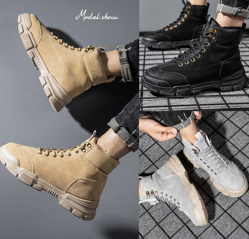 Retro Style Men's Tooling Boots show