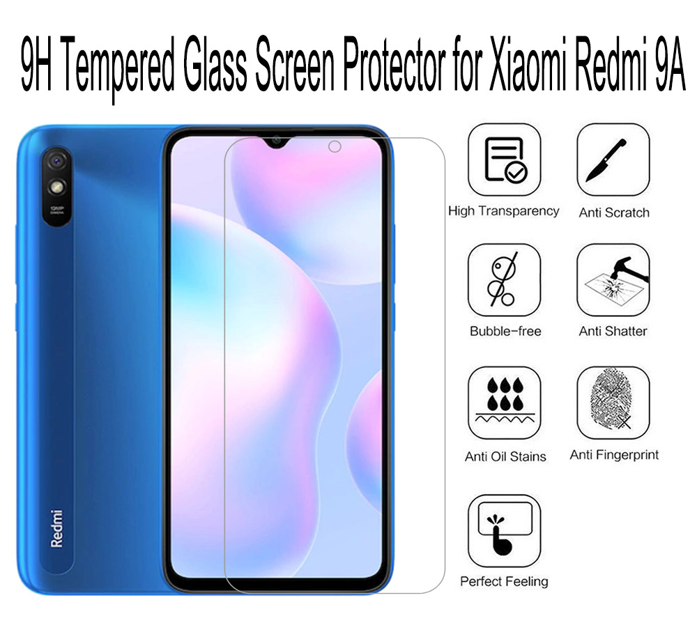ASLING 2.5D Arc Edge 0.26mm 9H Tempered Glass Screen Protector for Xiaomi Redmi 9A - Transparent 1pc