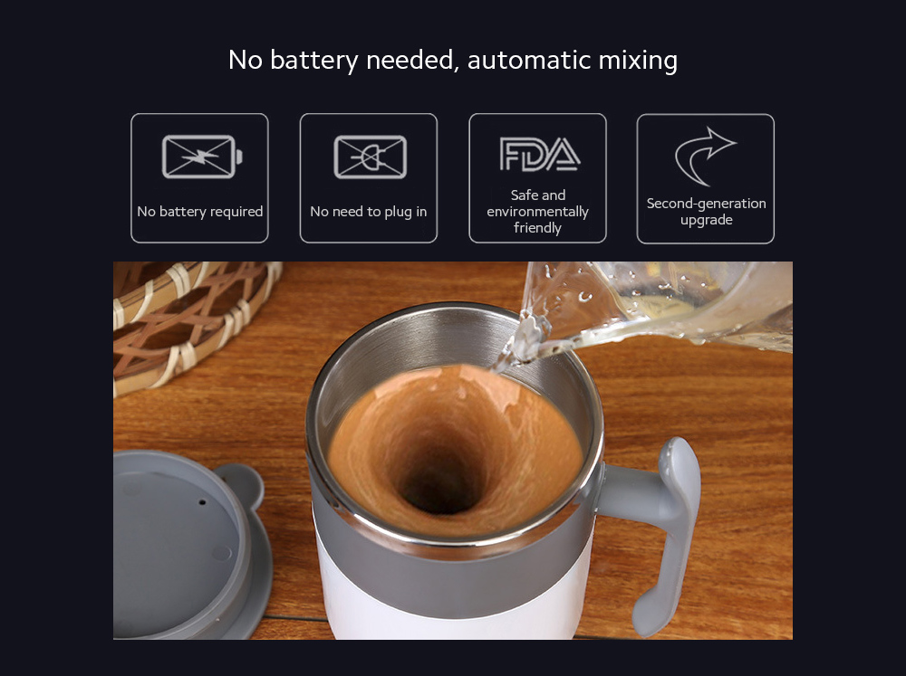 Temperature Difference Automatic Mixing Cup No battery needed, automatic mixing