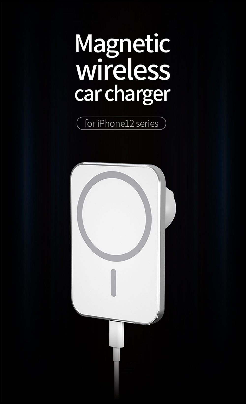Wireless Charger for iPhone 12 Series - White