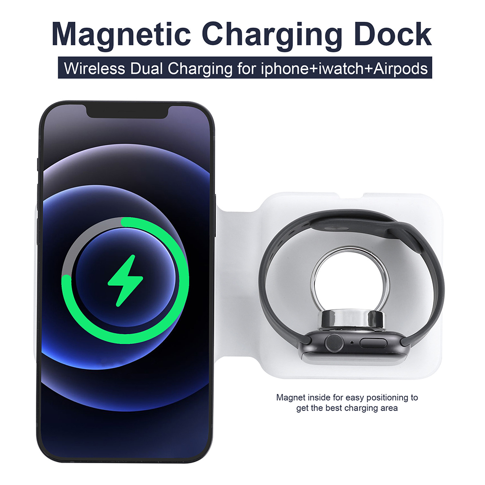 Wireless Charger for iPhone 12 - White PC