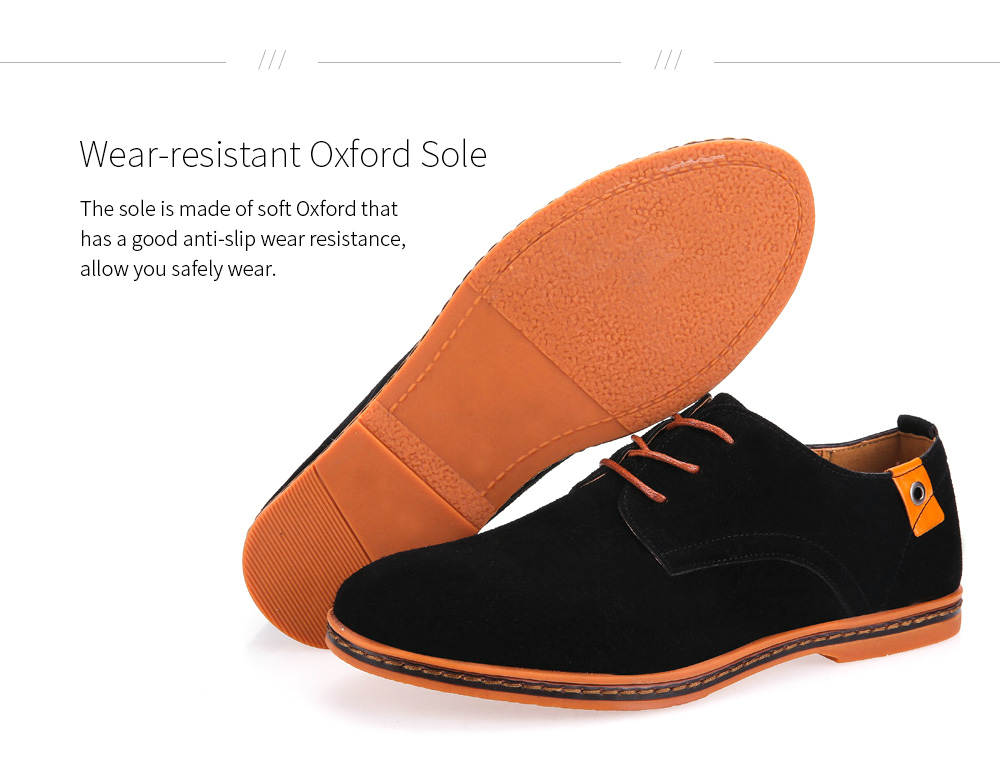 Large Size Casual Men's Shoes Oxford Sole