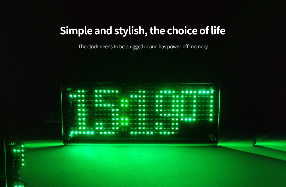 LED Chip Digital Dot DIY Electronic USB Time Clock Light Welding Kit Simple and stylish, the choice of life
