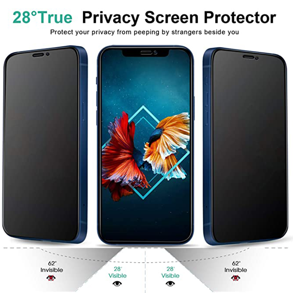 ASLING Screen Protector Film for iPhone 12 Mini / 12 / 12 Pro / 12 Pro Max - Black 1pc