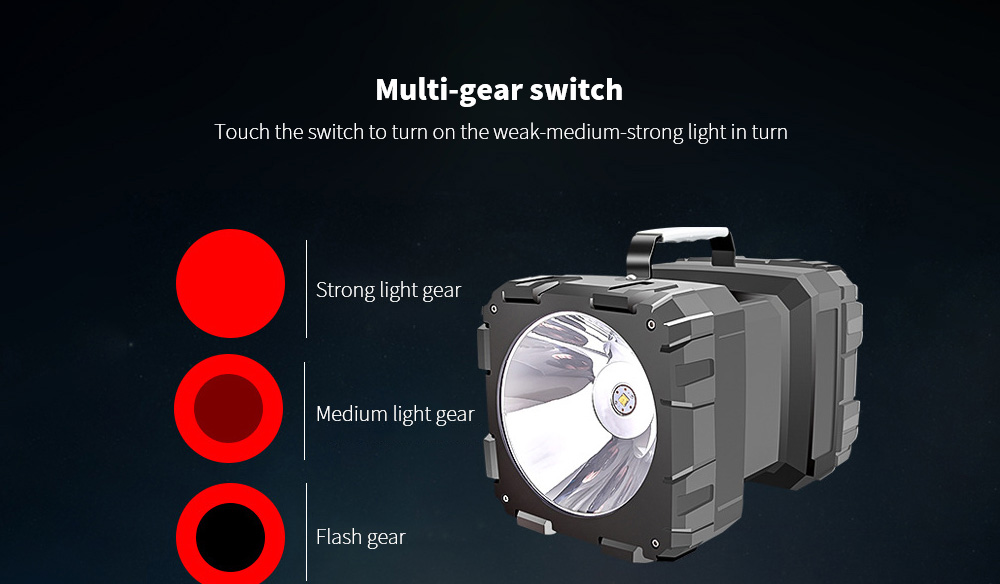 Flashlight Chargeable Super Bright Long Range Multi-gear switch