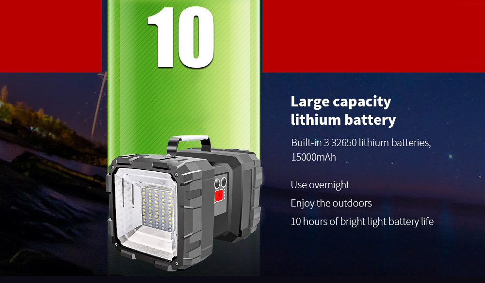 Flashlight Chargeable Super Bright Long Range Large-capacity lithium battery