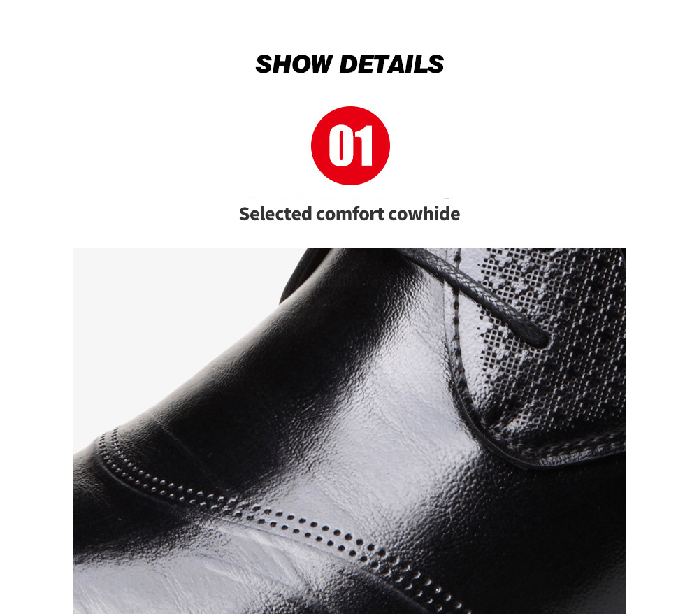 Spring and Summer Men's Business Casual Men's Shoes - Black 43