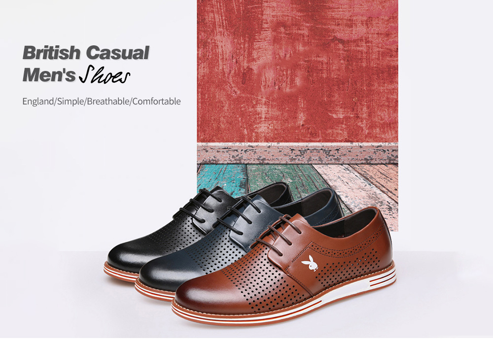 British Casual Men's Shoes - Tunnel Yellow Brown 40 British Casual Men's Shoes