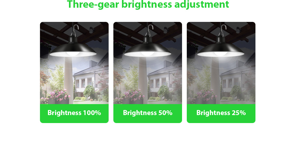 Garden Light Smart Solar Chandelier Three-gear brightness adjustment